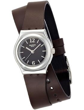 Swatch YSS284–Armbanduhr, Lederband braun