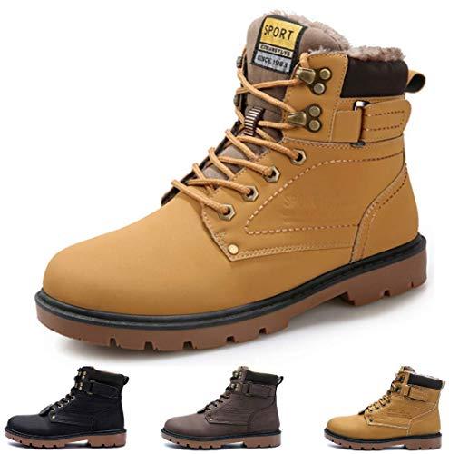 gracosy Hombre Botas de Nieve Invierno Trekking Zapatos 2019...
