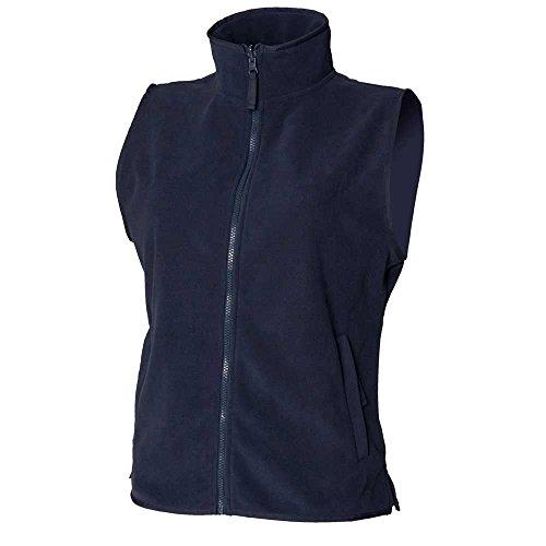 Henbury Womens Full Zip Sleeveless Micro Fleece Jackets Fleece Sleeveless Zip