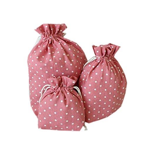 stockage-voyage-sacs-blanchisserie-cordon-ditty-sacs-a-pois-blancrose