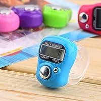 MachinYeser Plástico Compacto Mini Stitch Marker and Row Finger Counter LCD Contador Digital de conteo Aleatorio para Cualquier tejedora (Color al Azar)