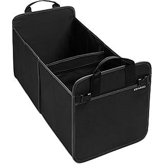 Große Kofferraumtasche aus Oxford Gewebe von Kewago | Kofferraum Organizer und Auto Faltbox mit stabilem Boden | Schwarz