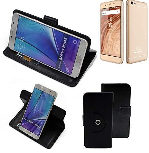 K-S-Trade® Case Schutz Hülle Für -Blaupunkt SL02- Handyhülle Flipcase Smartphone Cover Handy Schutz Tasche Bookstyle Walletcase Schwarz (1x)