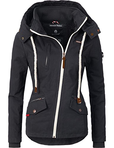 Navahoo Damen Outdoorjacke Übergangs Jacke Rehauge (Vegan Hergestellt) 9 Farben XS-XXL 5