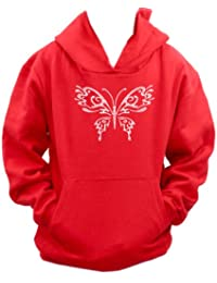 Butterfly Personalised Diamante Diamante Diamonte hoodie