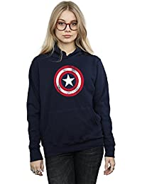 Marvel mujer Captain America Distressed Shield Capucha