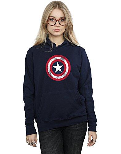 Marvel mujer Captain America Distressed Shield Capucha X-Small Armada c24ab970ae36