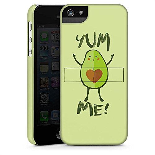 Apple iPhone X Silikon Hülle Case Schutzhülle Avocado Comic Herz Premium Case StandUp