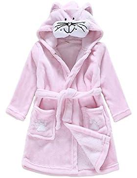 Kinder Bademantel Infant Frottee Karikatur Tier mit Kapuze Schlafanzüge Robe Vine