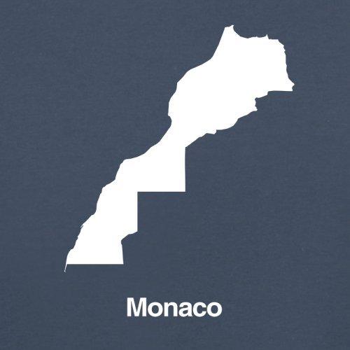 Monaco / Fürstentum Monaco Silhouette - Damen T-Shirt - 14 Farben Navy