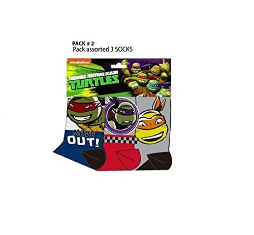 Offizielle Jungs Ninja Turtle Power Rangers Paw Patrol (Ninja Teenage Mutant Socken Turtle)
