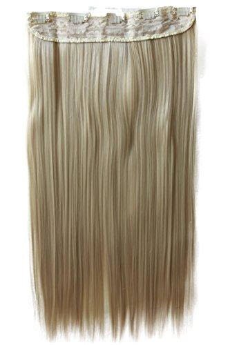 PRETTYSHOP XXL 5 Clips ein Teresse ganzen Kopf Clip In Extensions Haarverlängerung glatt 60cm blond #15 C71