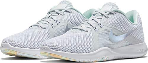 Nike Damen Sportschuh Flex Trainer 8 Premium Fitnessschuhe, Grau (Pure Platinum/Wolf Grey-White-090), 37.5 EU (Nike Schuhe Flex Trainer)