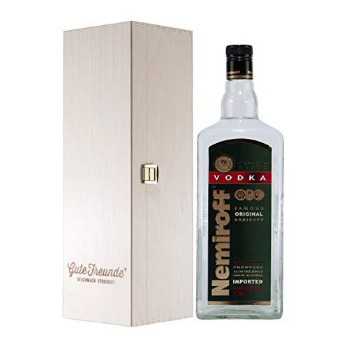 Nemiroff Vodka Original mit Geschenk-Holzkiste