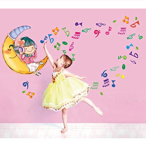 Mznm Listen to The Music of The Moon Mädchen Fünfte Generation Umweltschutz können entfernen der Wand Aufkleber