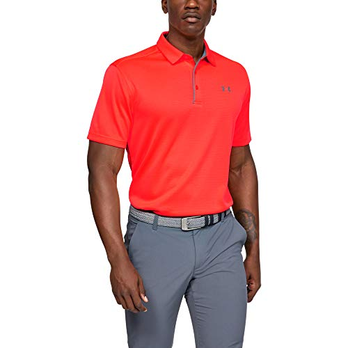 Under Armour Herren Tech Polo Poloshirt, Beta Red//Pitch Gray, LG - Red Golf-polo-shirt