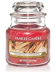 Yankee candle 1100954E Bougie en pot Parfum senteur Cannelle Pétillante Rouge