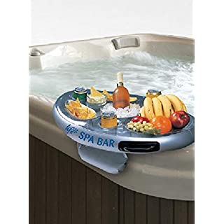 Official 'Perfect Pools' Spa Bar Inflatable Hot Tub Side Tray for Drinks and Snacks - Perfect for Pool Parties
