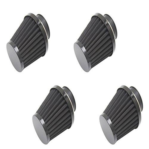 MagiDeal 4 Stücke Universal 54mm Kegel Luftfilter Reiniger für Motorrad Dirt Bike ATV Motorräder, Ersatzteile und Zubehör (Gummi Kegel Stecker)