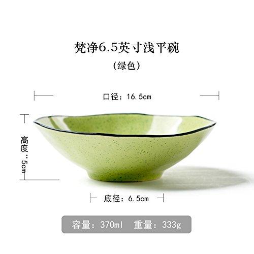ren Schalen 16,5cm Keramik Geschirr Instant Nudeln Obst Salat Suppe Schüssel grün (Essen Für Ein Luau)