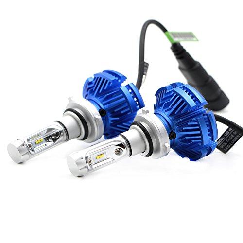YOUANDMI Lampe Auto H7 Automobil LED Birnen Kits(Luftfahrtaluminium), 2 X25W 6000Lm Blendschutz 360° Emission, Lange Lebensdauer, Hohe Wasserabweisung, Hohe Wärmeableitung, 9005 9006 H4 H11,9006