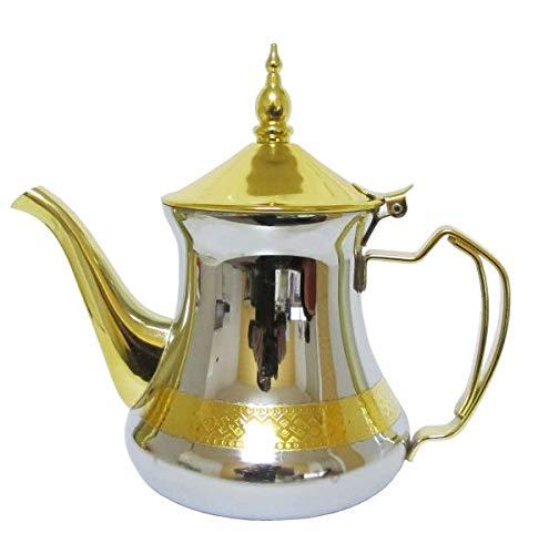 Marokkanische Teekanne Silber/Gold 650 ml Gold Teekanne