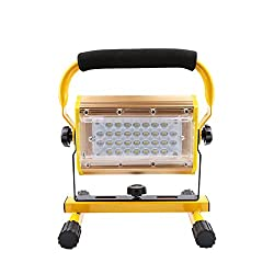 TYUE LED 100W Rechargeable Floodlights Portable LED Work Light,IP65 Waterproof Battery Spotlight, for Camping Hiking Emergency Car Repairing Job Site [Energy Class A+]