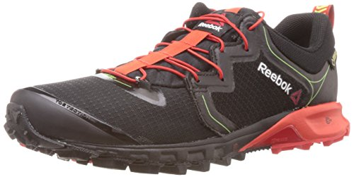 Reebok Men's Reebok One Quest II Gtx Black, Red and Yellow Mesh Nordic Walking Shoes - 7 UK