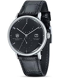 Dufa Deutsche Uhrenfabrik Unisex-Armbanduhr Analog Quarz Leder Albers DF-9010-01 Automatik