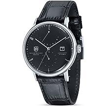 Reloj Cuarzo Dufa Deutsche Uhrenfabrik para Unisex con Negro Analogico Y Negro Cuero Albers DF-
