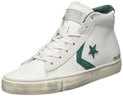 Converse Herren 158930c Hohe Sneaker, Elfenbein (White Dust/a.Green/Mouse), 43 EU