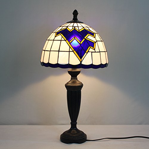 12-Zoll-Louisiana State Tigers Glasmalerei Tischlampe State Tigers