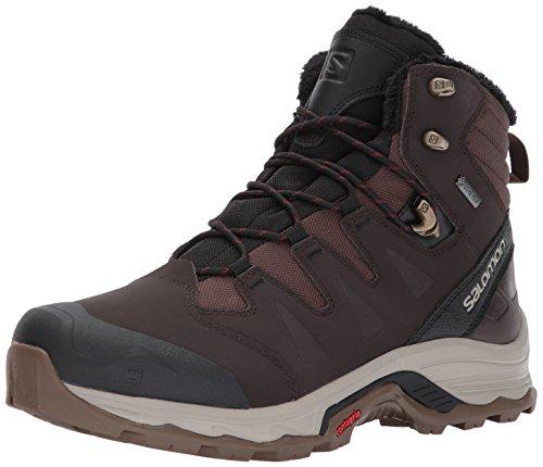 SALOMON Quest Winter GTX, Stivali da Escursionismo Uomo, Nero Coffee/Black/Red Dalhia 723, 41 1/3 EU