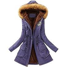 ZORE Women Coat,Mujeres cálidas Abrigo de Piel Largo Cuello Capucha Chaqueta de Invierno Parka