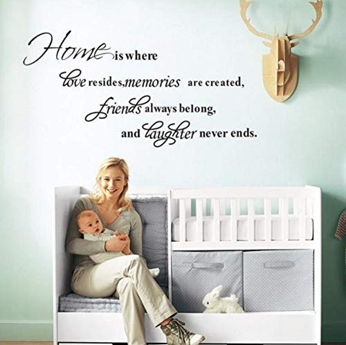Words Home Is Love Memory Friends Laughter Quote  Home Decor/Waterproofing Vinyl Wall Stcikers ()
