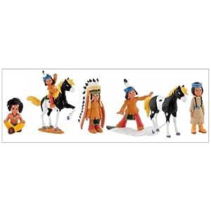 Bullyland YAK59281 Yakari le petit indien - Set de 6 figurines