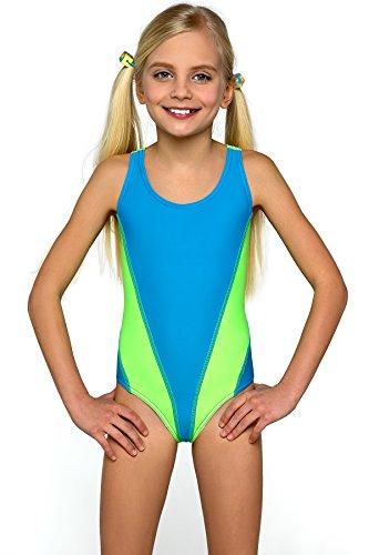 Lorin Mädchen Badeanzug Modell: 64 (Muster-v1, (Girl Kostüme Sexy Ideen)