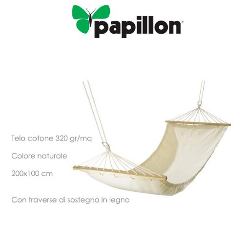 Papillon 8042815 - Hamaca colgante con travesaño 200x100 cm, color natural