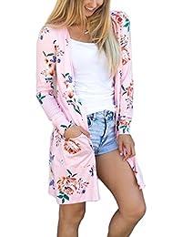 Ecowish Womens Boho Irregular Long Sleeve Wrap Kimono Cardigans Casual  Coverup Coat Tops Outwear S- 793e759a6