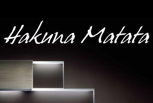 """Wandtattoo W420 """"Hakuna Matata"""" - Flur (174x28 cm) schwarz"""