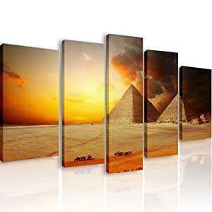 43 piramidi 5 quadri moderni 110x60 cm stampa for Arredo casa amazon