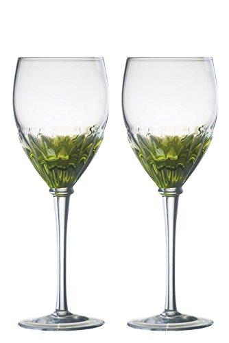 Solar Set aus 2 Weingläsern, grün