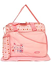 Kayakare Multi Compartment Mother Daiper Bag/For Baby Care Daiper Changing Mat And Bottle Cover (Aagelo Lite Pink)