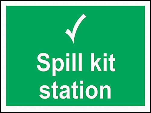Spill-station Kit (mefoll Notice Sign Safety Tin Metal Sign 12x16 Spill Kit Station Sign Warning Reminder Wall Decor by)