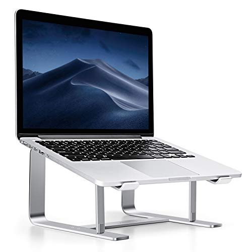 Elevator Laptop Ständer, Seenda Aluminium belüfteter, rutschfester Ständer für Macbook, Macbook Pro, Macbook Air usw., Silber