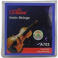 Alice Juego de Cuerdas de Violín E / a / d / g Cuerdas de Violín para Tamaño 1/4 1/2 3/4 4/4 Set Ball