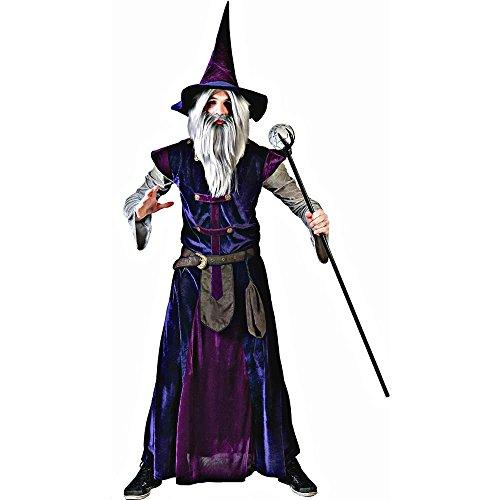 Lila Magier Hexenmeister Kostüm für Erwachsene Einheitsgröße (Erwachsene Hexenmeister Kostüme)