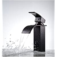khskx Olio strofinato bronzo porta Vanity rubinetto miscelatore a cascata