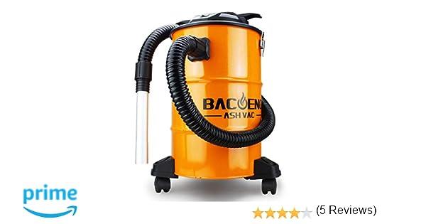 BACOENG Aspirateur de Cendres avec syst/ème de filtration double 1200 W 20 L