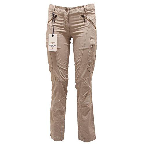 Aeronautica militare 1887p pantalone cargo beige donna pants women [40]
